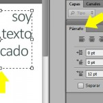 Cómo justificar textos con photoshop