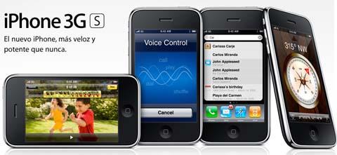 Nuevo iPhone 3G S de Apple