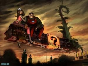 Fondo de Super Mario y la princesa