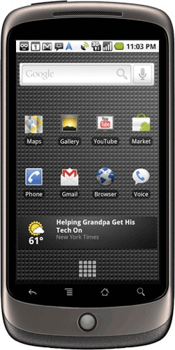 El Teléfono móvil de Google: Google Nexus One