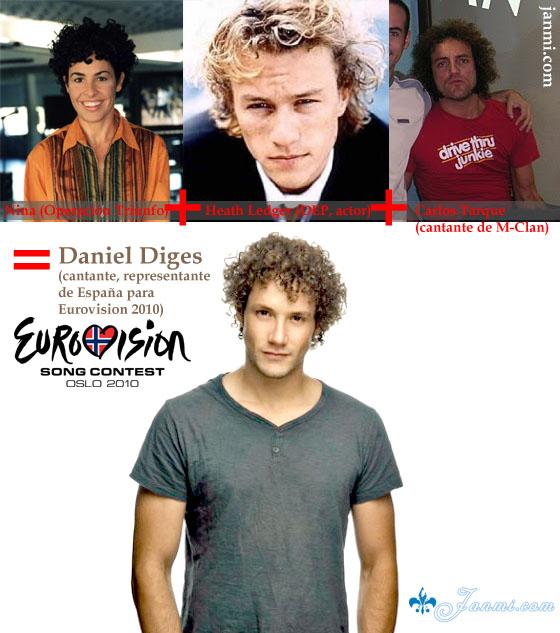 parecido razonable Daniel Diges Eurovision 2010