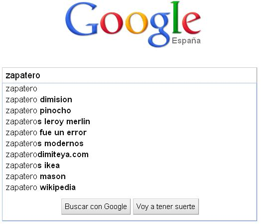 buscar zapatero en google