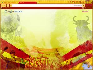 tema google chrome de la selección española de fútbol