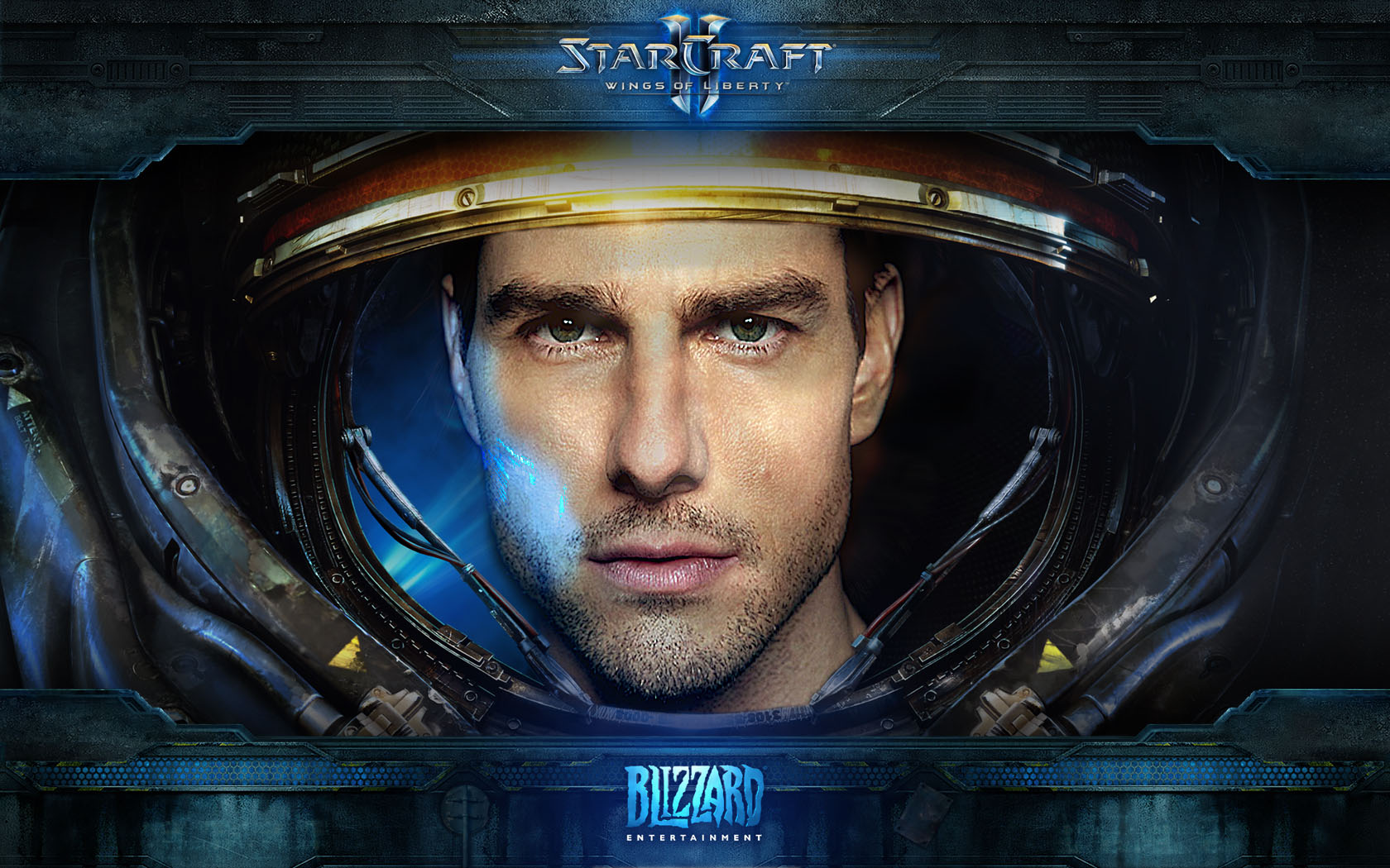 Tom Cruise as Starcraft 2 Marine 1680x1050