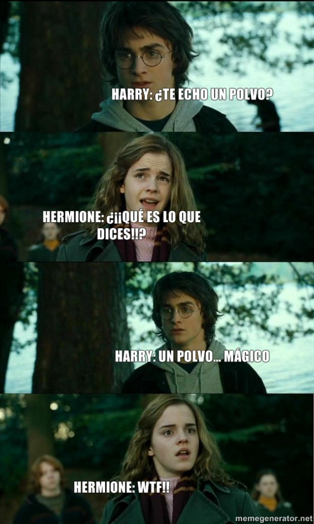 harry potter y el polvo