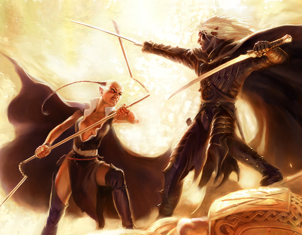 Dahlia Sin'Felle y Drizzt Do'Urden