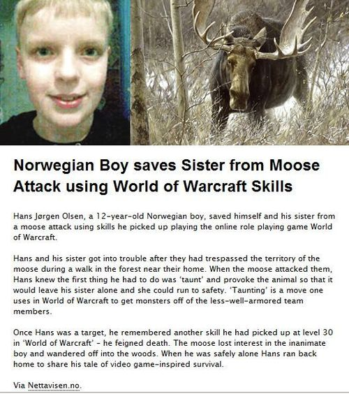 Niño noruego salva a su hermana gracias a lo aprendido en World of Warcraft