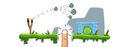 Pajaro azul del Angry Birds