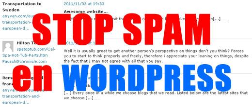 stop spam wordpress