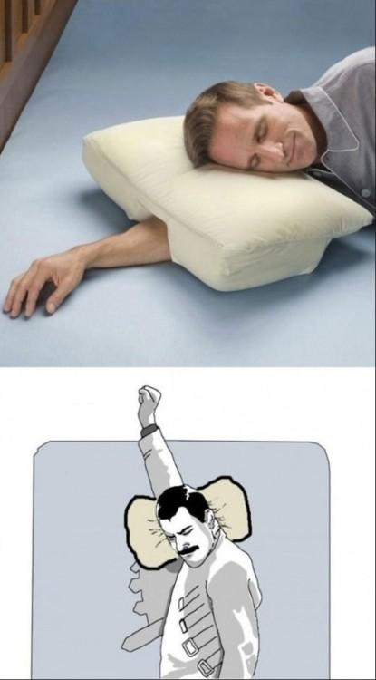 La almohada ideal para el brazo que sobra