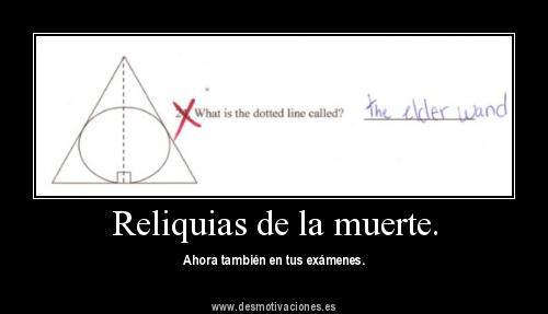 las reliquias de la muerte - matematicas