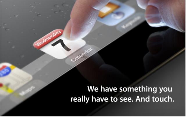 El iPad 3 se presentará el 7 de Marzo