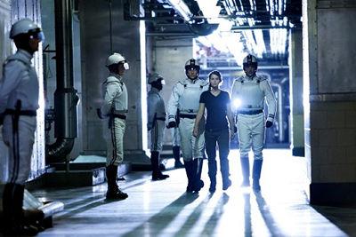 Katniss y agentes de la paz