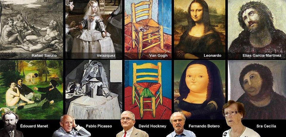 Pintores ilustres con versiones alternativas de cuadros famosos
