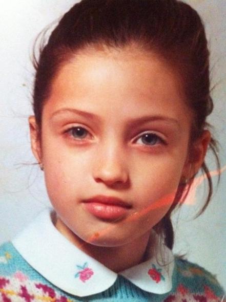 Sara Carbonero de pequeña