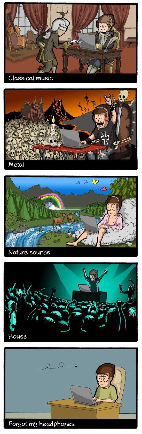 Cómo ven los programadores el mundo según la música que escuchan