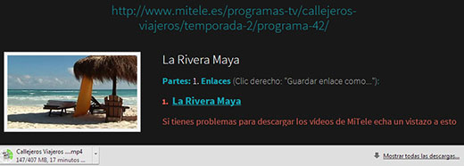 Cómo descargar vídeos de Mitele.es