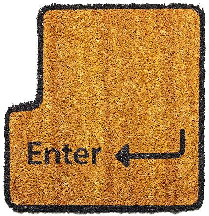 """Alfombrilla para la entrada """"Enter"""""""