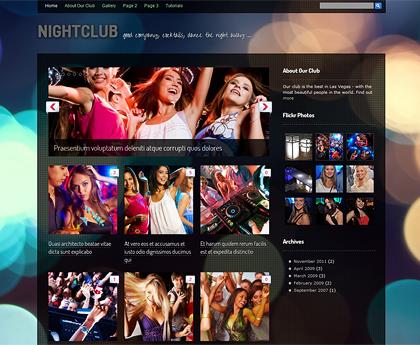 Tema de WordPress gratuito para clubs, bares y discotecas