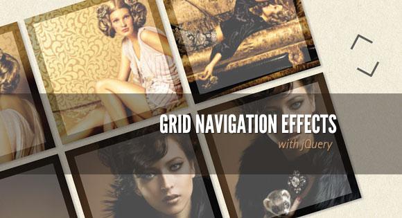 Grid con espectaculares efectos de navegación jQuery