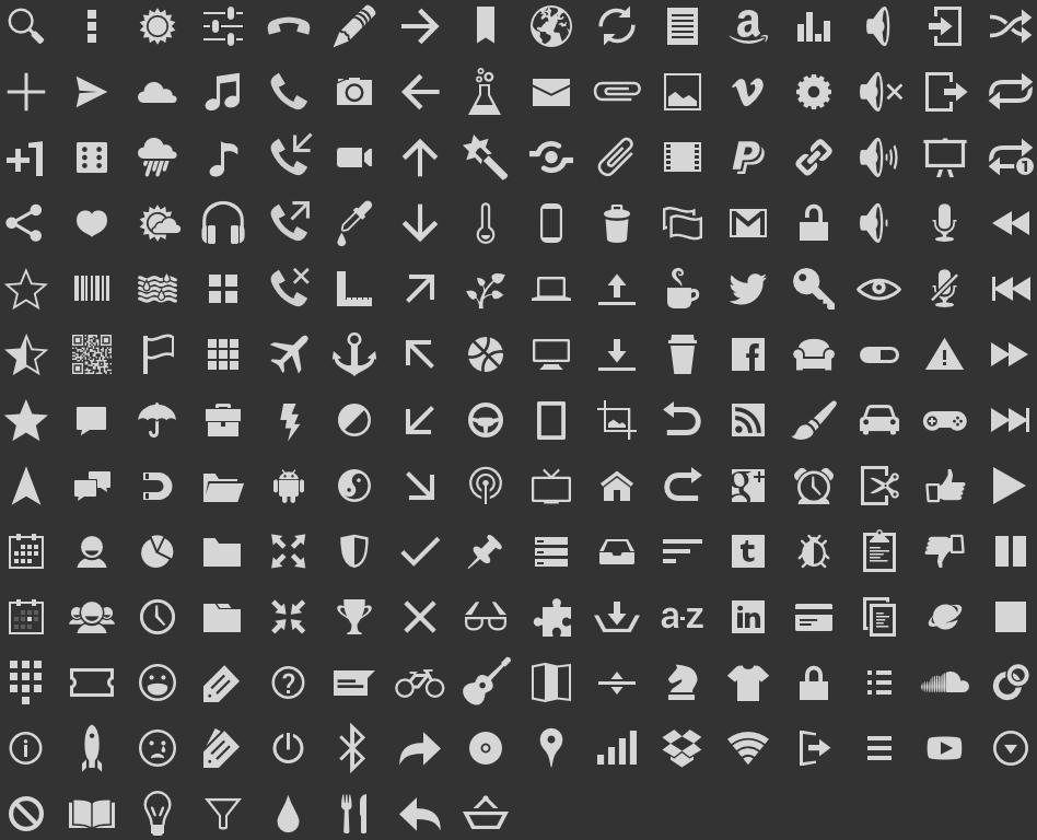 iconos gestuales y letras para: