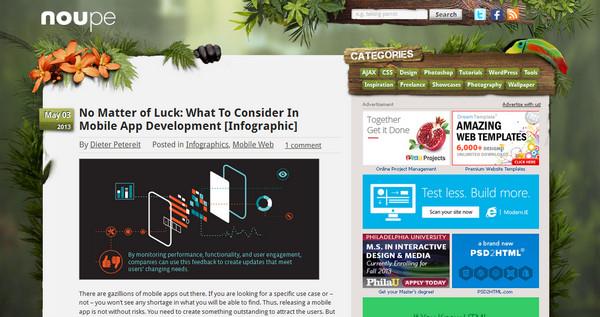 Diseños Web con elementos orgánicos