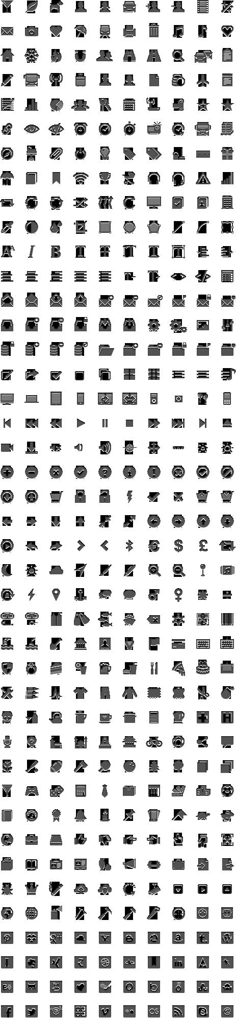 420 iconos vectoriales gratis