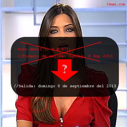 fecha en espanol en php