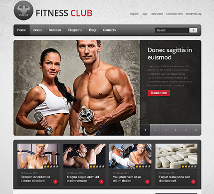 tema wordpress gimnasio