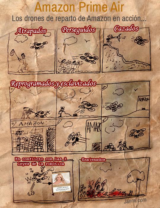 drones de amazon - comic