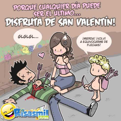 Cupido mata en san valentin