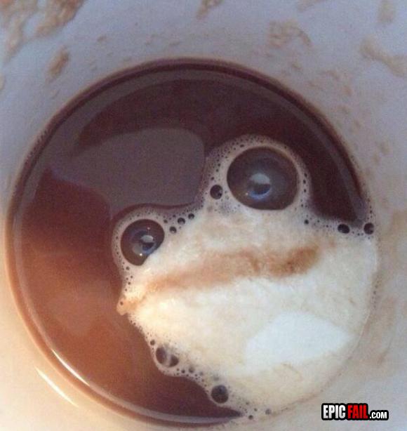 a veces veo ranas en el cafe