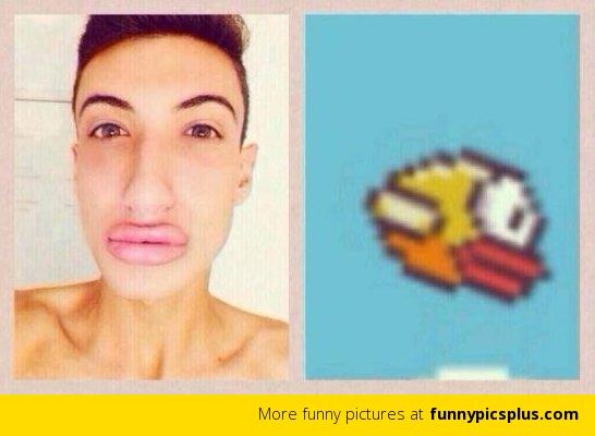 cara de flappy bird