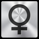 ¿Cómo escribir el carácter del signo femenino?