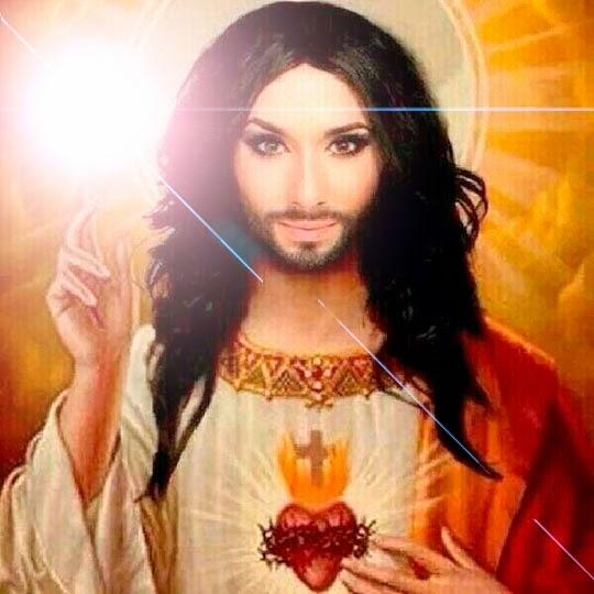 Festival de Eurovisión 2014, Conchita Wurst, la mujer barbuda, Conchita Salchicha Jesus barba