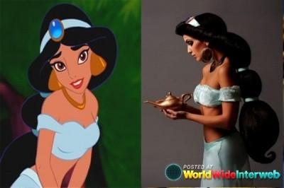 Princesa Jasmine de Aladín cosplay