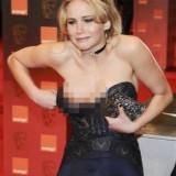 El descuido de la bella Jennifer Lawrence…