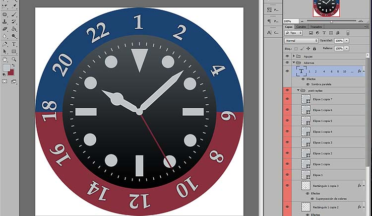09 - Como disenar watchface para smartwatch con photoshop