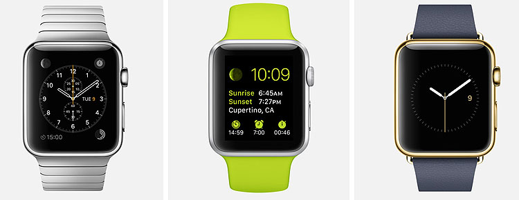 Apple Watch - 3 ediciones