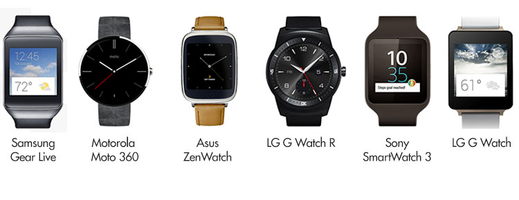 android wear modelos relojes
