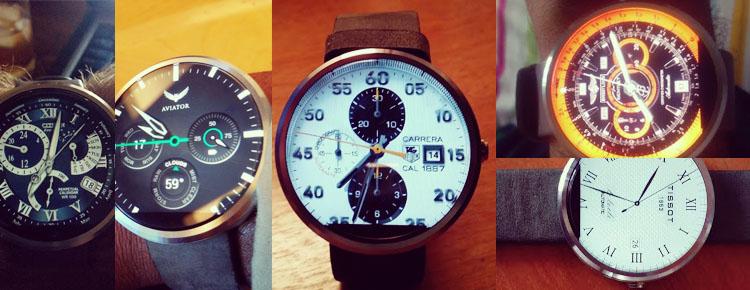 android wear watchfaces de relojes de lujo