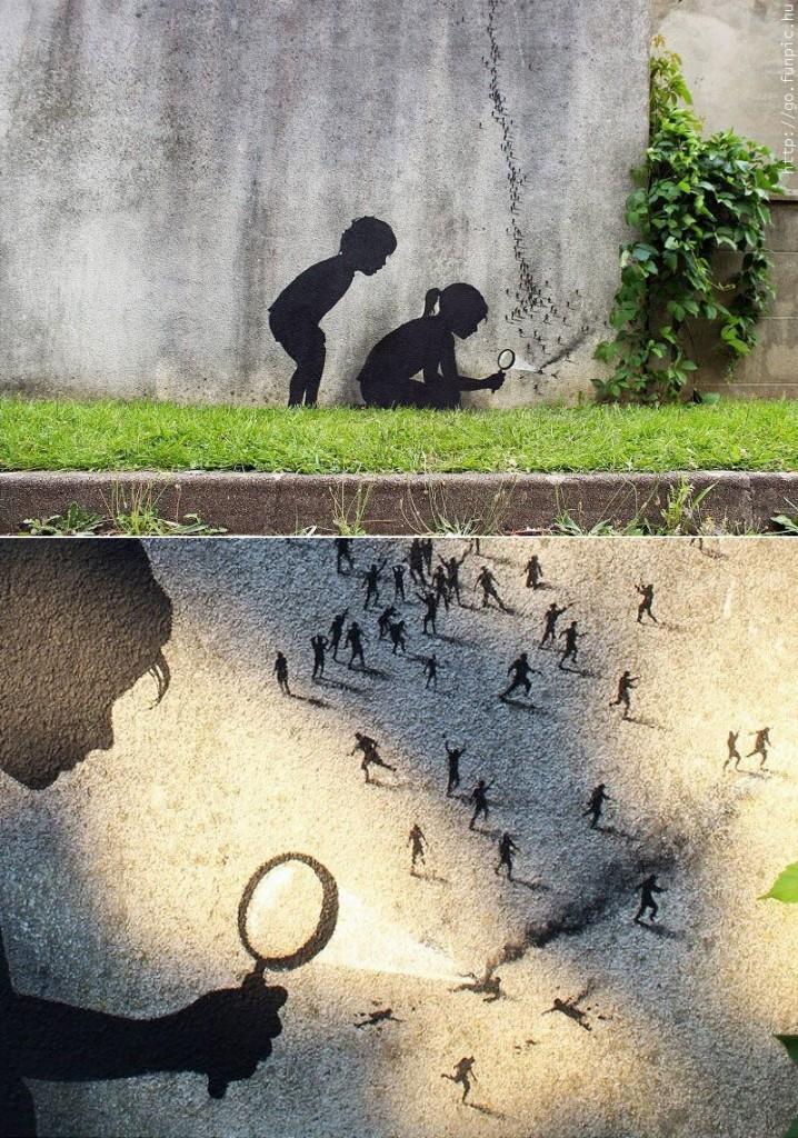 grafiti humano hormiga