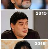 El nuevo aspecto de Maradona