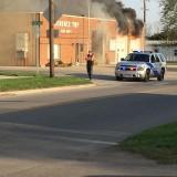 Ironía: Fuego en el parque de bomberos