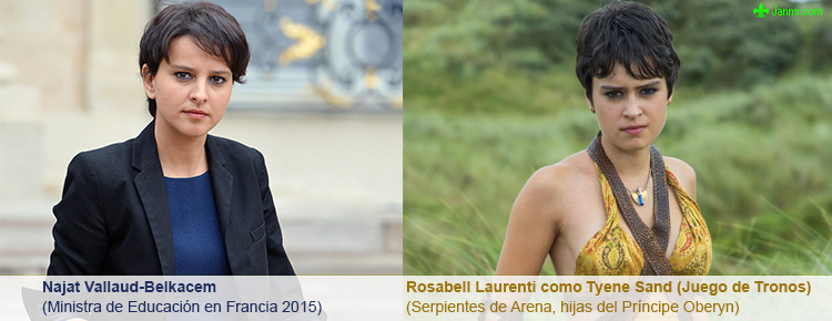 Najat Vallaud-Belkacem Ministra de Educación en Francia - Rosabell Laurenti como Tyene Sand