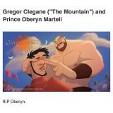La Montaña y el Príncipe Oberyn VERSIÓN DISNEY