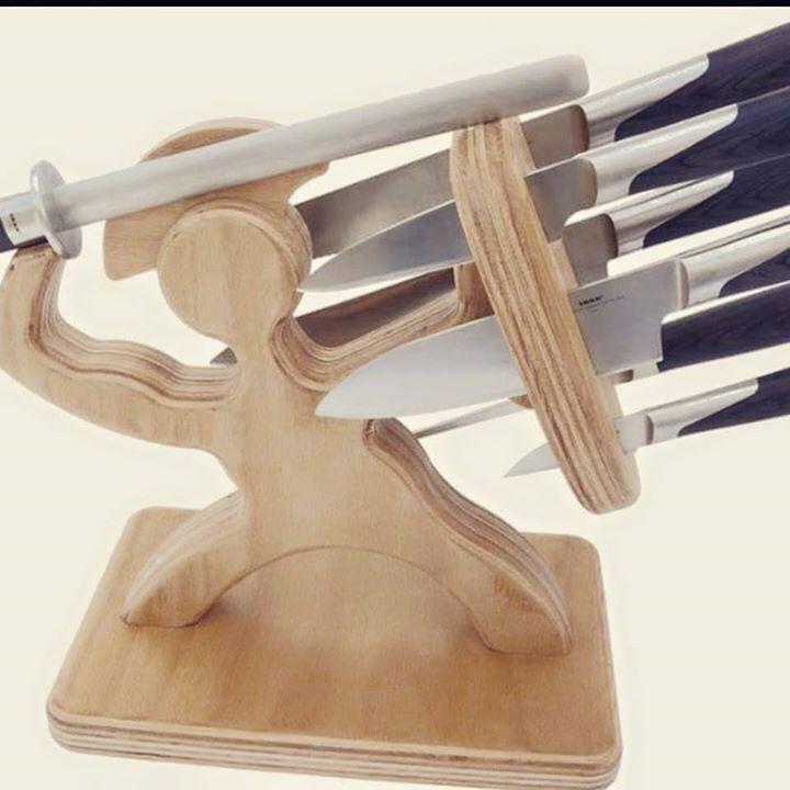 soporte para cuchillos espartano