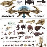 Unidades de Starcraft a escala