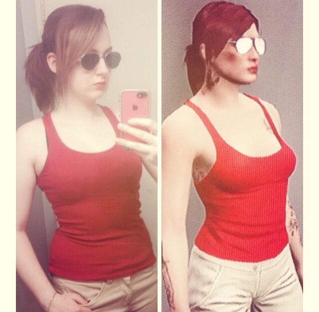 Chica con parecido razonable con su personaje de GTA V