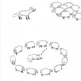 Cómo puede vencer un rebaño de ovejas a un lobo